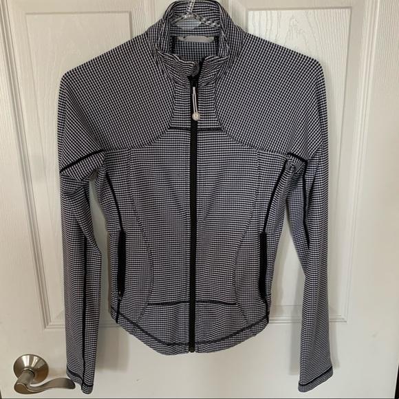 lululemon athletica Jackets & Blazers - Lululemon Forme Jacket Gingham Black and White